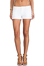 Hampton Cuffed Short in White