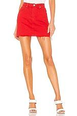 Hudson Jeans The Viper Mini Skirt in Cherry