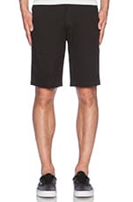 Twill Walk Short in Black