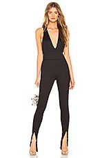 h:ours Hughes Catsuit in Black Noir