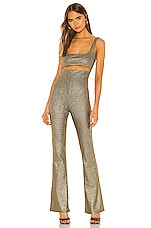 h:ours Tira Jumpsuit in Gold