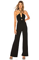 h:ours Vale Jumpsuit in Black Noir