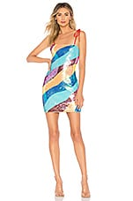 h:ours Aurora Mini Dress in Rainbow