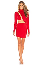 h:ours Malena Mini Dress in Fire Red