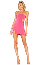 h:ours Mira Tux Dress in Pink Candy
