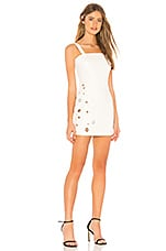 h:ours Antoni Mini Dress in White
