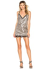 h:ours Neely Mini Dress in Silver