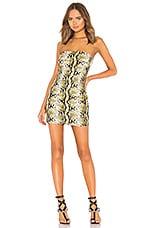 h:ours x Yovanna Ventura Mona Snake Print Tube Dress in Natural
