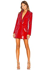 h:ours Trixy Blazer Dress in Red Gaga