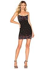h:ours Jessa Mini Dress in Black Confetti