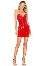 h:ours Zali Mini Dress in Red Gaga
