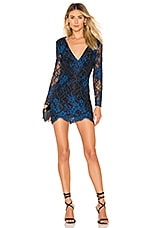 h:ours Rio Dress in Blue & Black