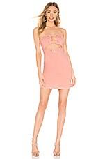 h:ours Aitana Mini Dress in Pink Blush