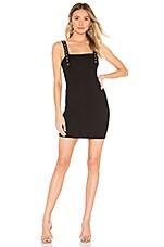 h:ours Amya Mini Dress in Black