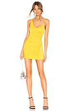 h:ours Jaxton Mini Dress in Bright Yellow