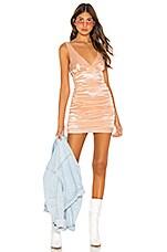 h:ours Riri Mini Dress in Nude Lip Gloss