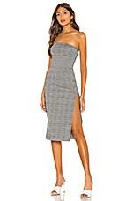 h:ours Vivi Midi Dress in Gray