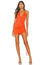 h:ours Henny Mini Dress in Neon Orange