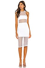 h:ours Nelly Midi Dress in White