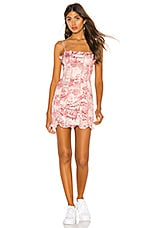 h:ours Renee Mini Dress in Pink Floral