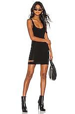 h:ours Cynthia Mini Dress in Black