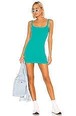 h:ours Rita Mini Dress in Teal