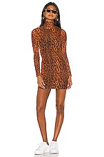 h:ours Arna Mini Dress in Leopard