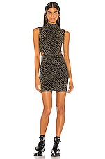h:ours Kinsey Dress in Gold & Black