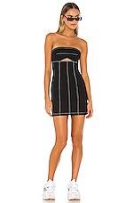 h:ours Lex Mini Dress in Black