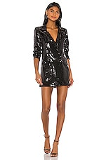 h:ours Trixy Blazer Dress in Black
