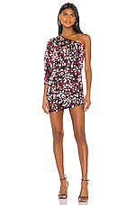 h:ours Darrell Mini Dress in Pink & Silver
