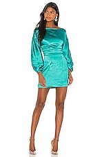 h:ours Cristiano Mini Dress in Teal