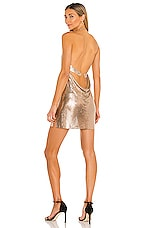 h:ours Imogen Chainmail Dress in Gold