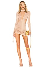 h:ours Libra Dress in Pink Champagne