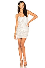 h:ours Charlize Beaded Dress in White