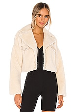 h:ours Oversized Lambo Jacket in Ivory
