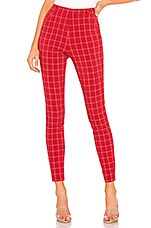 h:ours Darling Pant in Red & White
