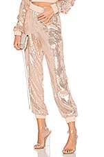 h:ours Ariana Joggers in Pink Champagne