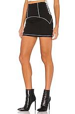 h:ours Lyla Mini Skirt in Black
