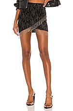 h:ours Drip Mini Skirt in Black