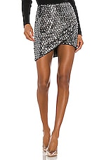 h:ours Gem Skirt in Black & Silver