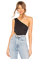 h:ours Afton Bodysuit in Black