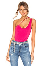 h:ours Parker Bodysuit in Hot Pink