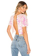 h:ours Maliah Top in Pink Iridescent