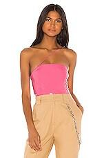 h:ours Trix Bodysuit in Bubble Gum Pink