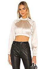 h:ours Clutch Crop Top in Nude Champagne