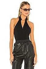 h:ours Sayonara Bodysuit in Black