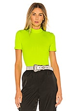 h:ours Janice Bodysuit in Neon Yellow