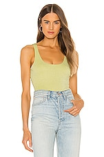 h:ours Beau Bodysuit in Yellow Green