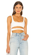 h:ours Montee Crop Top in White